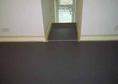Linoleum auf Stufen