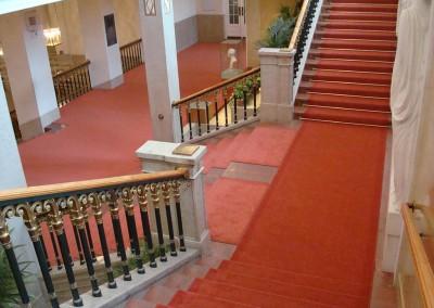 Roter Teppichboden im Konzerthaus Wien
