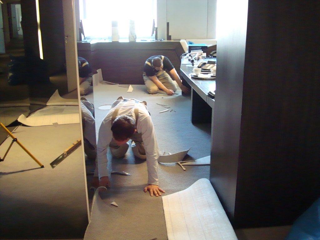 Einzigartig Bildergalerie - Teppichboden in Büroräume verlegen UA49