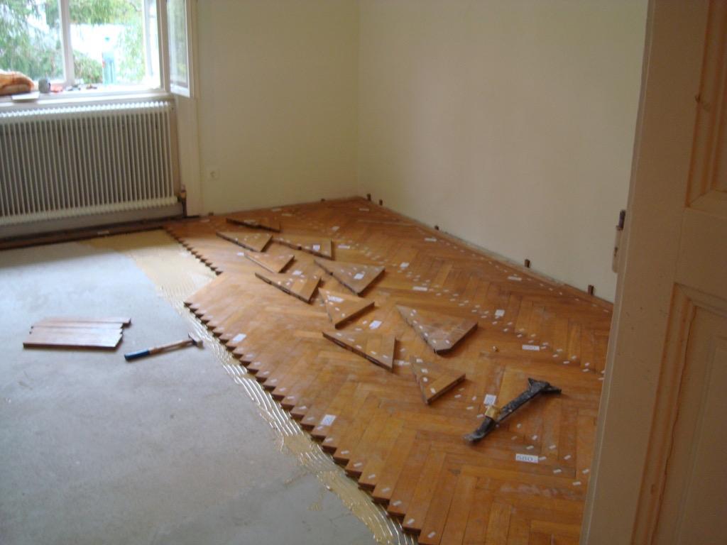 Parkettsanierung - Renovierung eines alten Parkettbodens