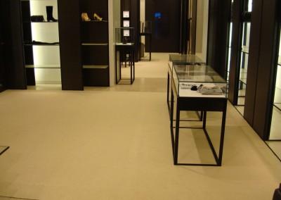 Teppich in Chanel-Shop 05: verlegte Fläche