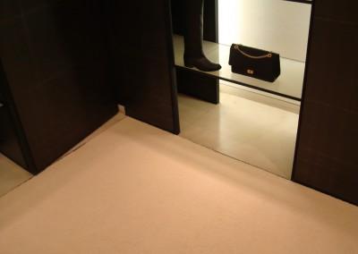 Teppich in Chanel-Shop 07: verlegte Fläche