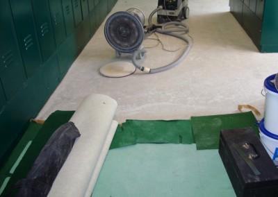 Teppichverlegung im Golf Club Freudenau 01: Untergrundvorbereitung