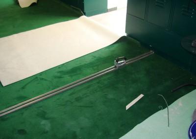 Teppichverlegung im Golf Club Freudenau 02: Zuschnitt des Teppichbodens