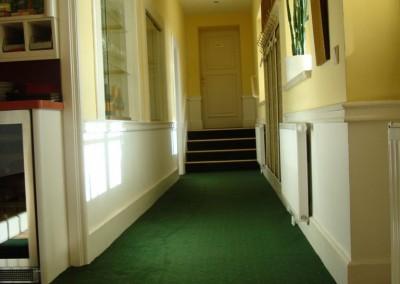 Teppichverlegung im Golf Club Freudenau 03: Verlegung im Barbereich