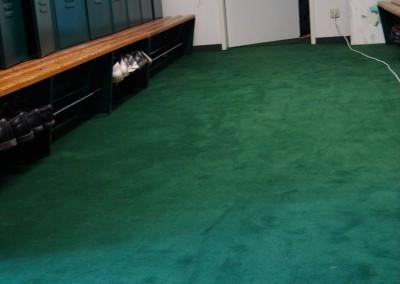 Teppichverlegung im Golf Club Freudenau 06: verlegte Fläche in Umkleideräumen