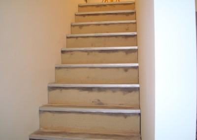 Linoleum aud Stufen 01: Vorbereitung für die Verlegung