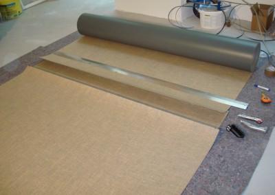Linoleum aud Stufen 03: Zuschnitt des Belags