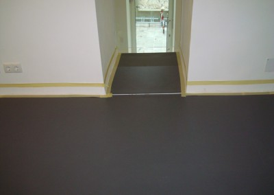Linoleum aud Stufen 06: Linoleum auf Podest und Stufen