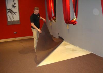 Gewebter Teppichboden in Sisal-Optik