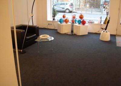 Teppich im Lichtgeschäft 04: Bereits verlegte Fläche