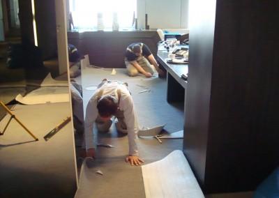 Teppichboden im Büro 03: Verlegung und Zuschnitt