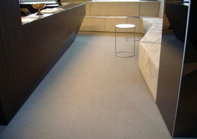 Teppichboden im Büro 08: verlegte Fläche im Empfang