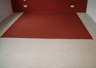 Teppichfliesen im Schlafzimmer 03: verlegte Fläche