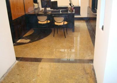 Teppichverlegung im Bankhaus Spängler 02: Büroräume vor der Teppichverlegung