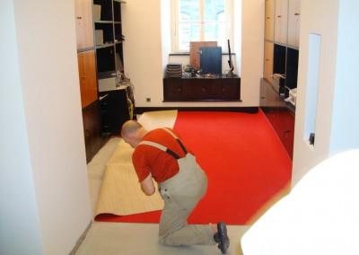 Teppichverlegung im Bankhaus Spängler 03: Planung der Verlegung