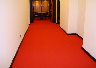 Teppichverlegung im Bankhaus Spängler 06: verlegte Fläche im Flur