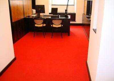 Teppichverlegung im Bankhaus Spängler 08: verlegte Fläche im Büro